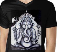GANESHA II Mens V-Neck T-Shirt