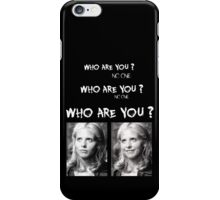 Buffy - Who are you - B&W White iPhone Case/Skin