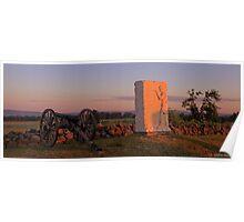 Sunrise on Cemetery Ridge Poster
