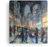 Night Rain Canvas Print