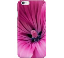 Early Summer Blooms Impressions - Bright Pink Malva iPhone Case/Skin
