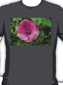 Early Summer Blooms Impressions - Bright Pink Malva T-Shirt