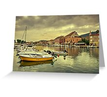 rent A boat  Greeting Card