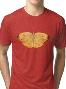 Apricot Sulfur Butterfly Tri-blend T-Shirt