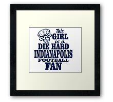 this girl is a die hard Indianapolis football fan Framed Print