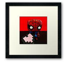 Spider-Man Valentines Framed Print