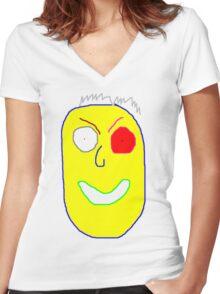Stranger danger Women's Fitted V-Neck T-Shirt