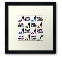 CHIC AND COLORFUL SHOE QUEEN DESIGN Framed Print