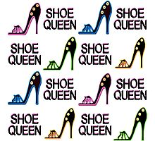 CHIC AND COLORFUL SHOE QUEEN DESIGN Photographic Print