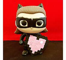 Catwoman Valentines Photographic Print