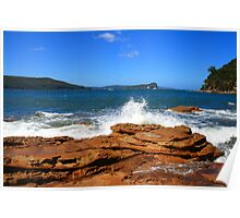 Flint & Steel Beach headland, Ku-ring-gai National Park Poster