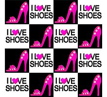 PASSIONATE PINK I LOVE SHOES DESIGN Photographic Print