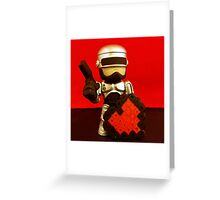 Robocop Valentines Greeting Card