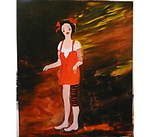 olivia the juggling doll Photographic Print
