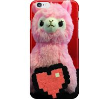Pink Alpaca Valentines iPhone Case/Skin