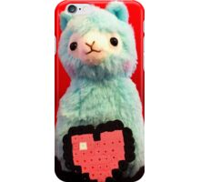 Blue Alpaca Valentines iPhone Case/Skin