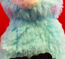 Blue Alpaca Valentines Sticker
