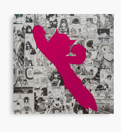 Astro Collage - Pink Canvas Print