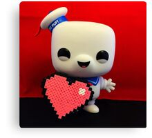 Marshmallow Man Valentines  Canvas Print