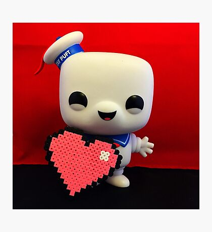 Marshmallow Man Valentines  Photographic Print