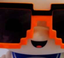 Marshmallow Man In Sunglasses - Light Sticker