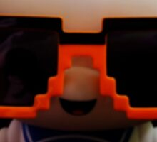 Marshmallow Man In Sunglasses - Dark Sticker