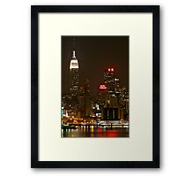 Night by The New Yorker Framed Print