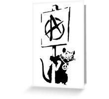 Banksy Design Rat Print  Greeting Card