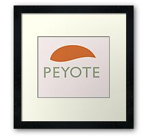 Peyote Framed Print