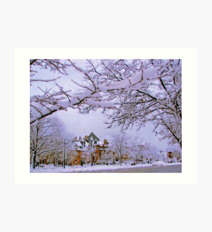 Winter in New England  Art Print