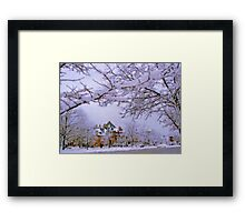 Winter in New England  Framed Print