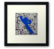 Astro Collage - Blue Framed Print
