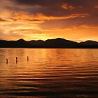Sunset over Loch Lomond by brianmcgui
