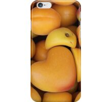 apricot with heart love iPhone Case/Skin