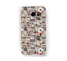 pattern amusing lovers robots Samsung Galaxy Case/Skin