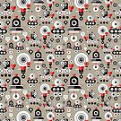 pattern amusing lovers robots by Tanor