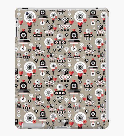 pattern amusing lovers robots iPad Case/Skin