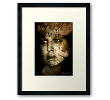 The story is written in the face Framed Print