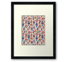 pattern amusing lovers robots Framed Print