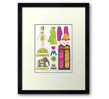 Paper Doll No.1 Framed Print