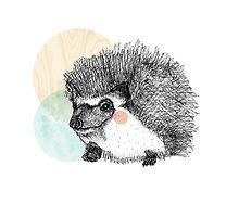 Hedgehog by wood-ink