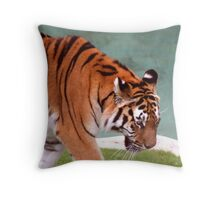 Mighty Tiger IV Throw Pillow