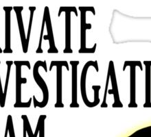 Richard Castle Private Investigation Team Sticker