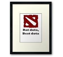 Rat dota, best dota Framed Print