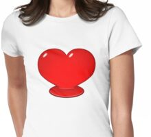 Hot Enough To Melt Your Heart Womens Fitted T-Shirt