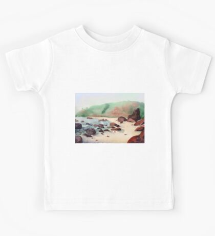 Tropical beach at sunset - nature background watercolor Kids Tee