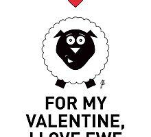 SHEEP VALENTINE CARD by mjfouldes