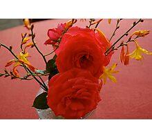 BEAUTIFUL ORANGE ROSE Photographic Print