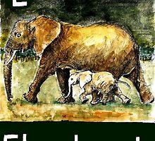 E is for Elephant by DavidDonovan