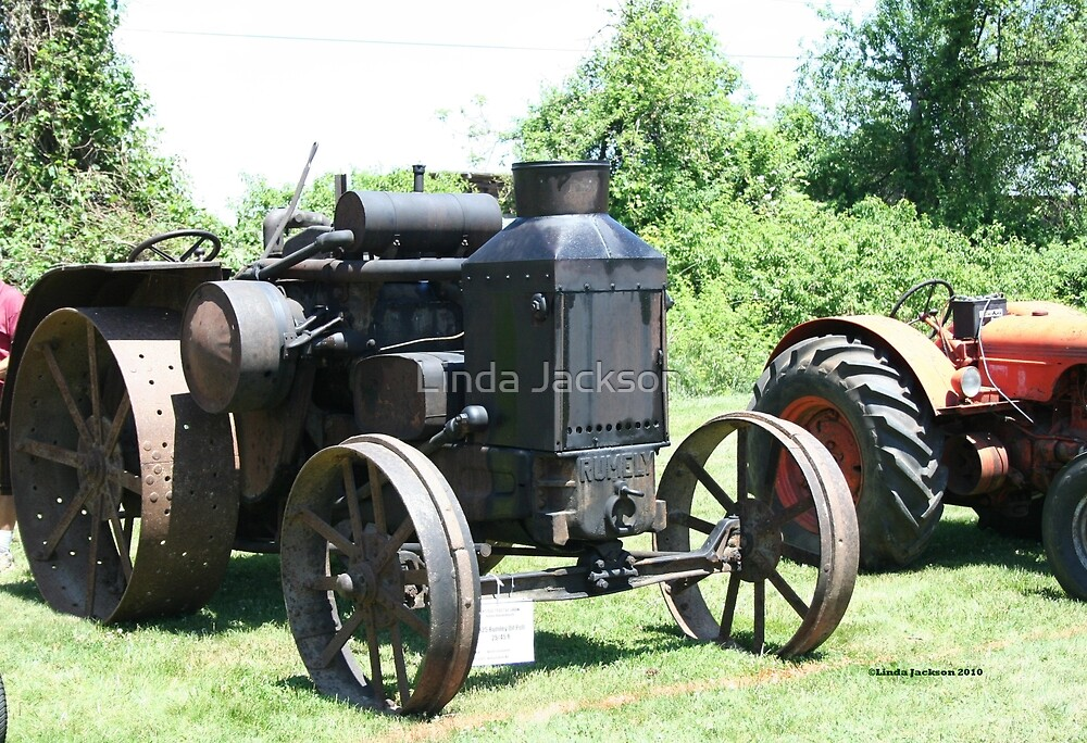 Tractor, Oldie but a goodie! by Linda Jackson